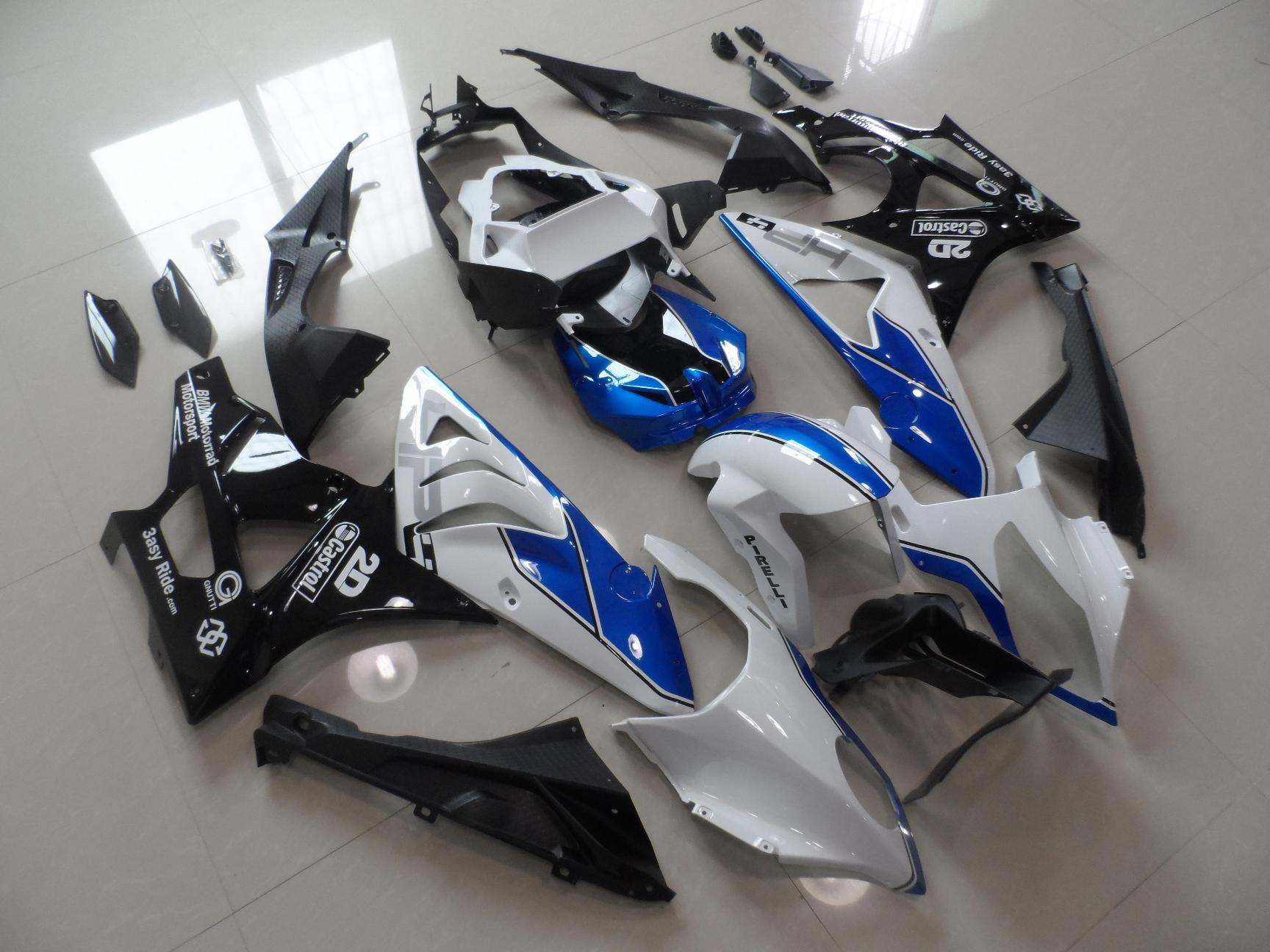 BMW S1000RR 2009-2014 WHITE&BLUE&BLACK HP4