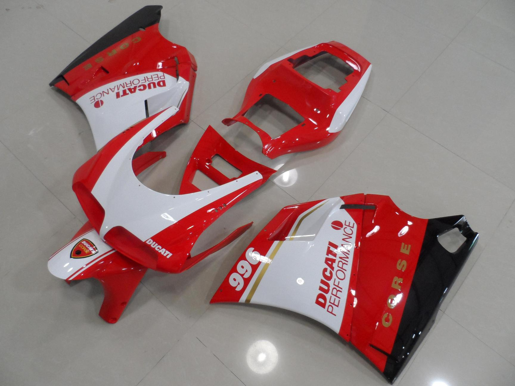 DUCATI 748 916 996 RED AND WHITE CROSE