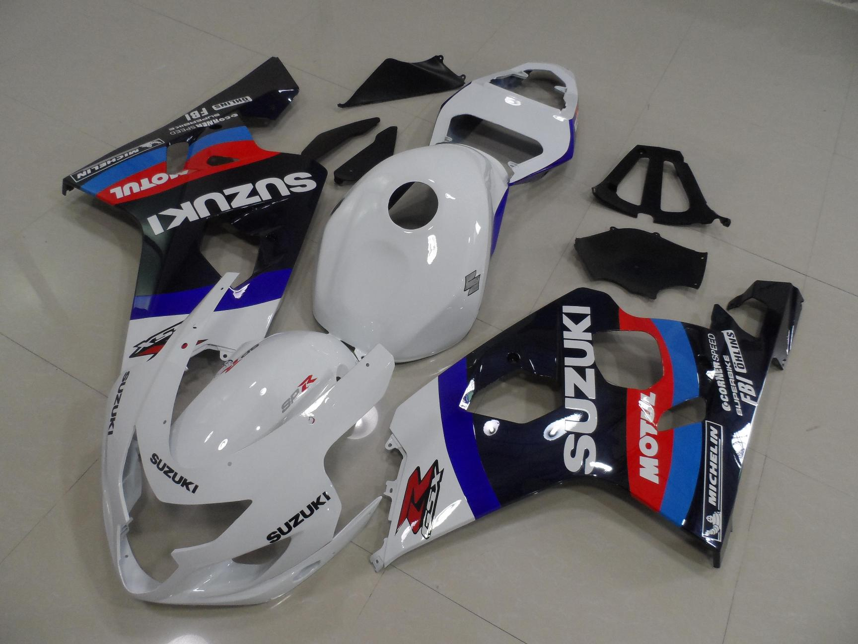 GSX-R750 600 2004-2005 WHITE AND BLACK WITH TANK COVER